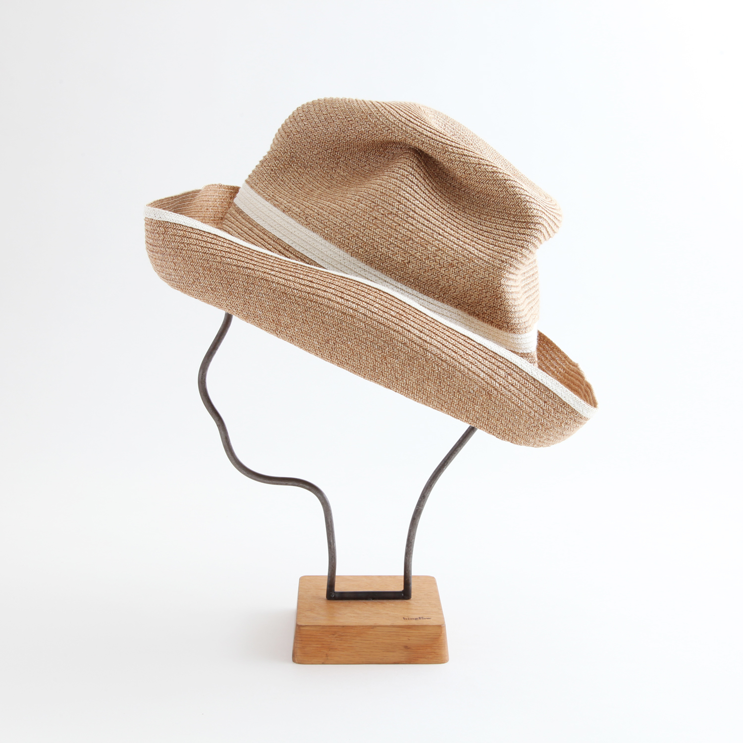 mature ha./BOXED HAT 101SW mixbrown×white