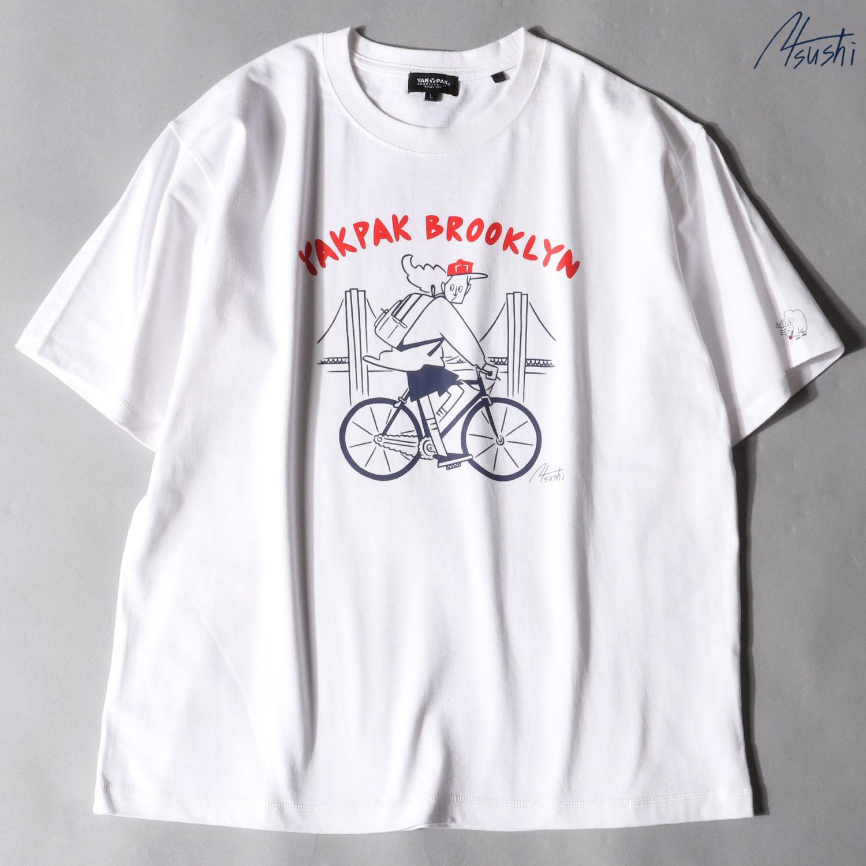【YAK PAK】タケウチアツシ×YAKPAKコラボ プリントTシャツ NO0525107