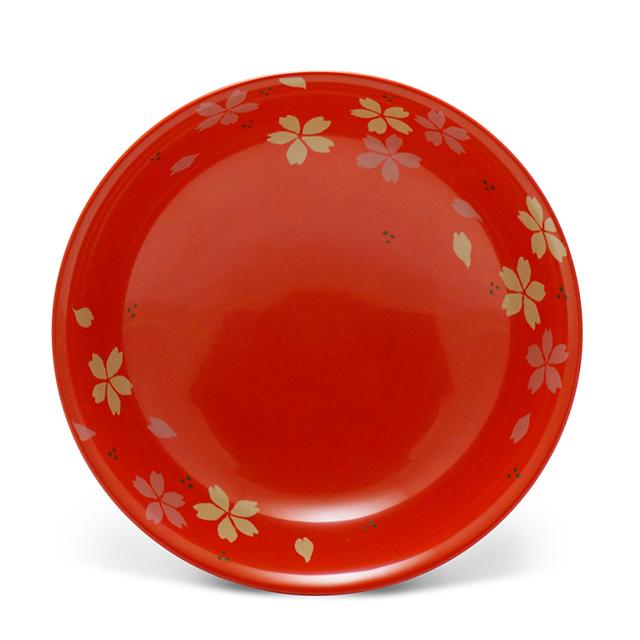 手塩皿4.0洗朱桜散し(1)