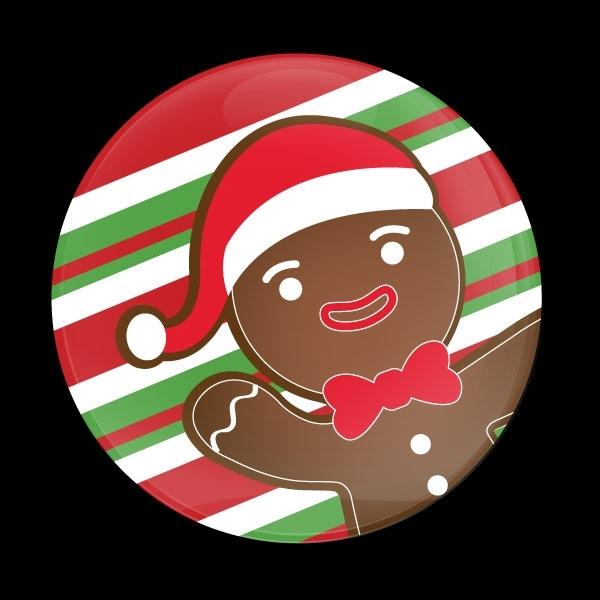 ゴーバッジ(ドーム)(CD0975 - Seasonal Christmas Gingerbread) - 画像1