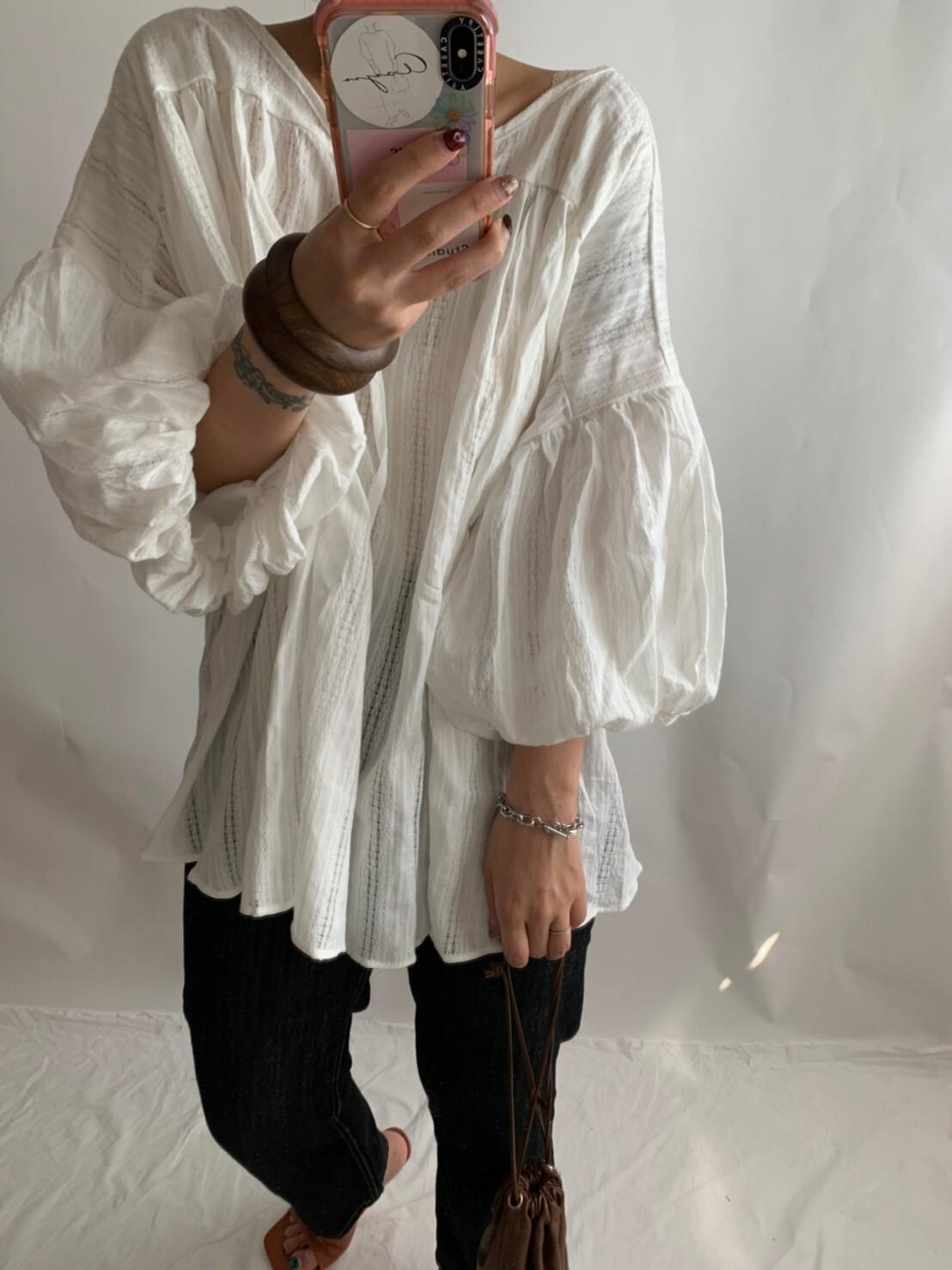 【asyu】volume puff sleeve tunic