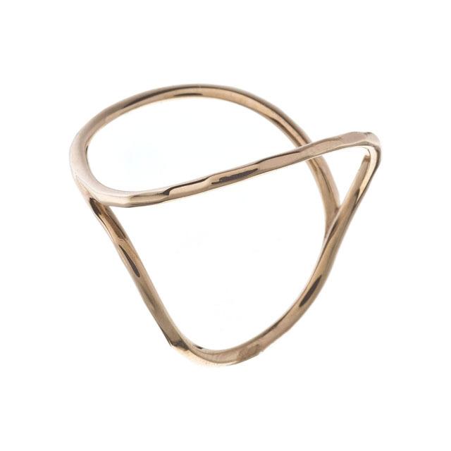 K10 Open Circle Ring 10金オープンサークルリング ELR0002G