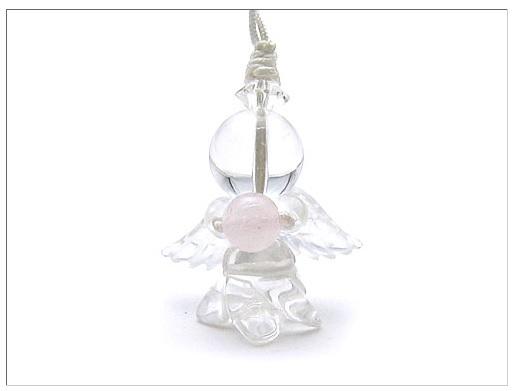 【開運商品】天然石☆カワイイ天使ストラップ~天使を手元に