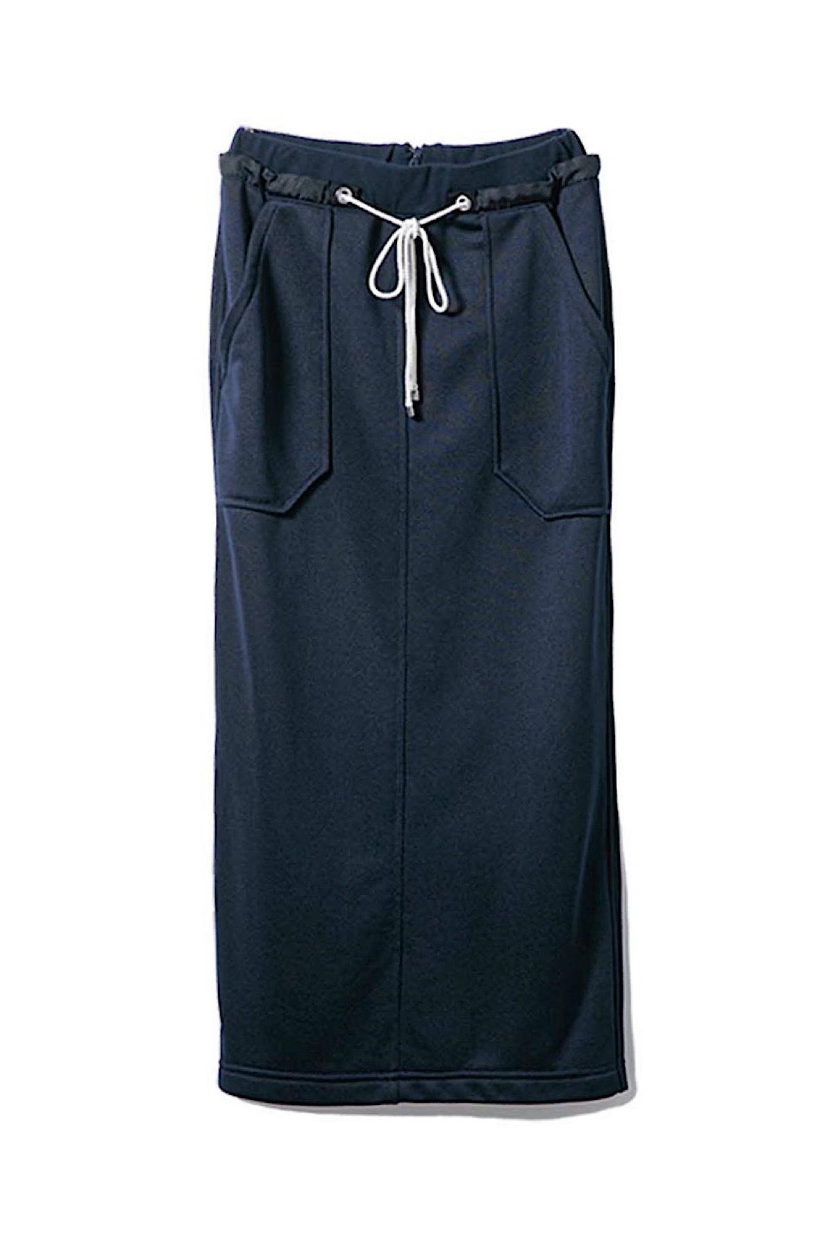ジャージータイトスカート <ネイビー>