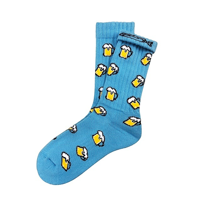"""""""Beer -blue-"""" Socks (limited edition by EAZY MISS)"""