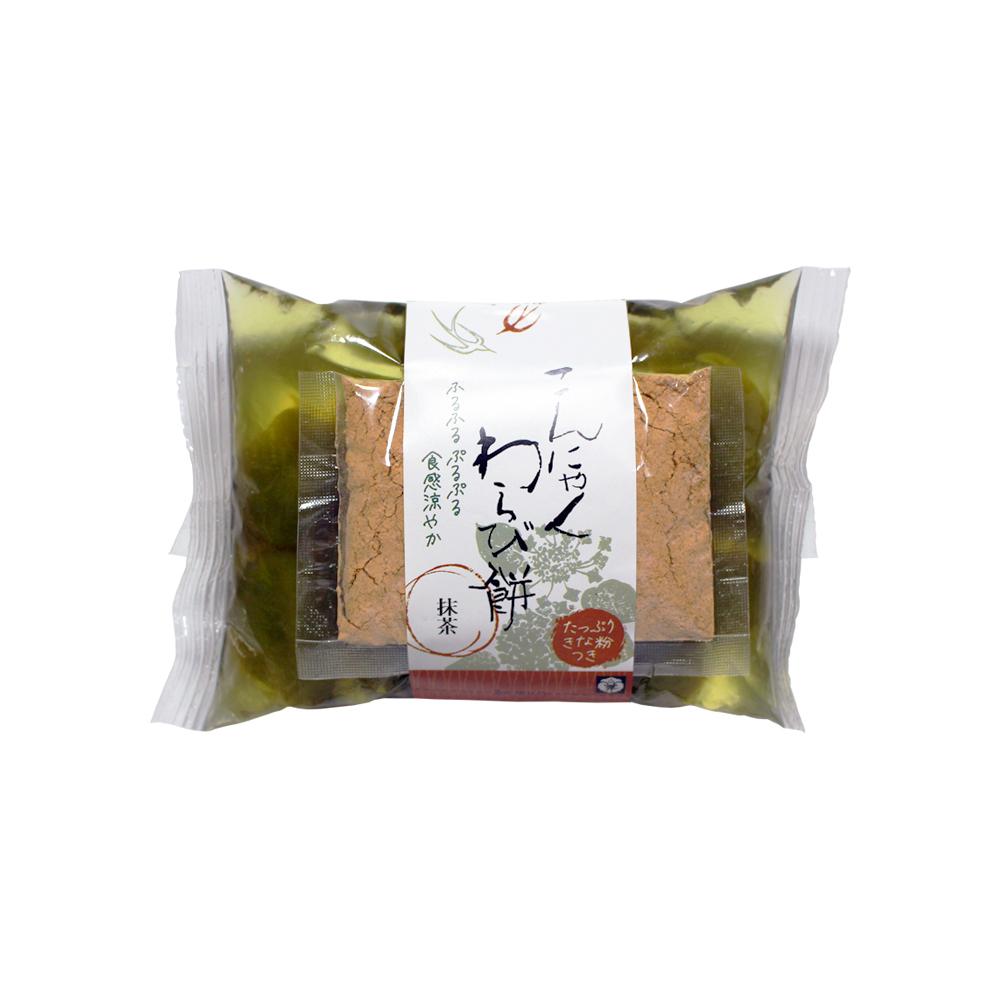 【4~9月限定】【抹茶】蒟蒻わらび餅 80g きな粉付