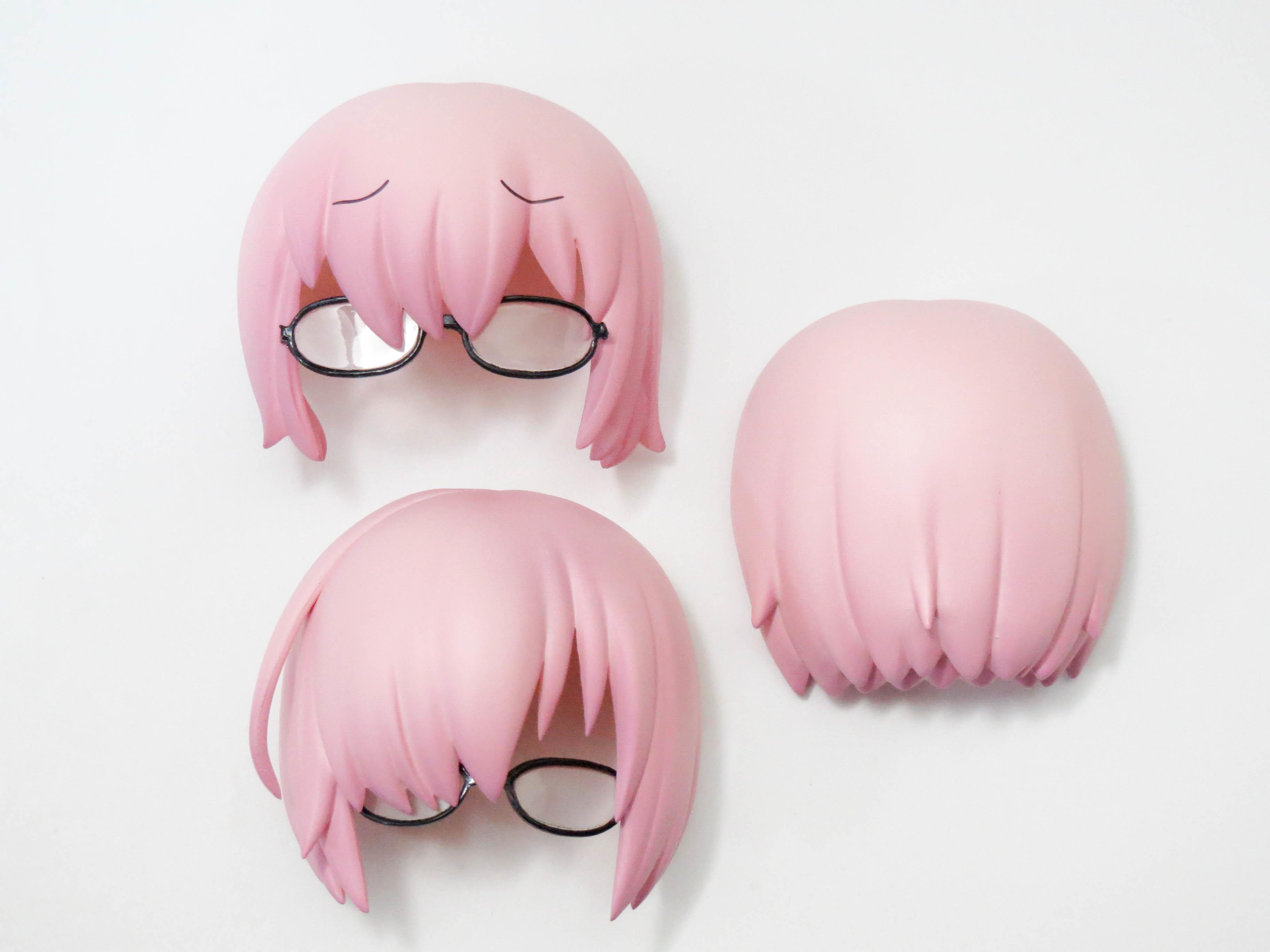【941】 マシュ・キリエライト 私服Ver. 髪パーツ メガネ付きショート ねんどろいど