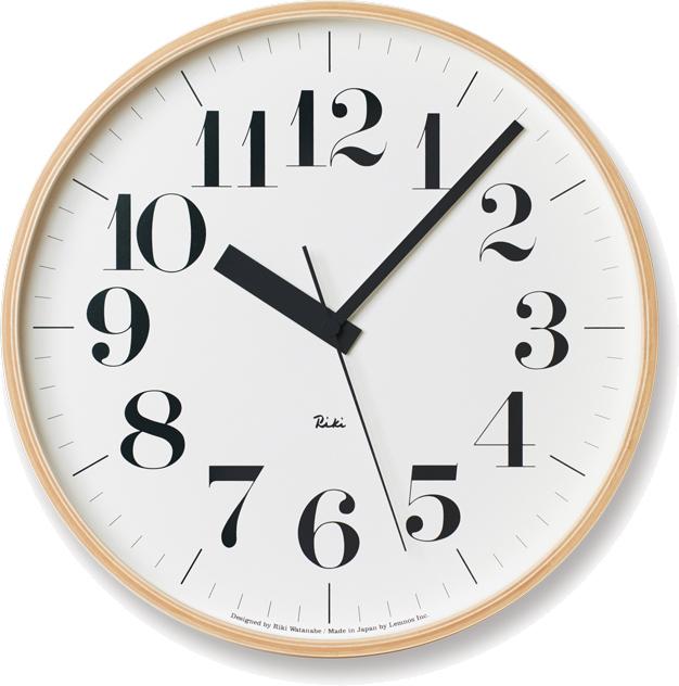 タカタレムノス RIKI CLOCK RC 電波時計 ナチュラル WR08-27