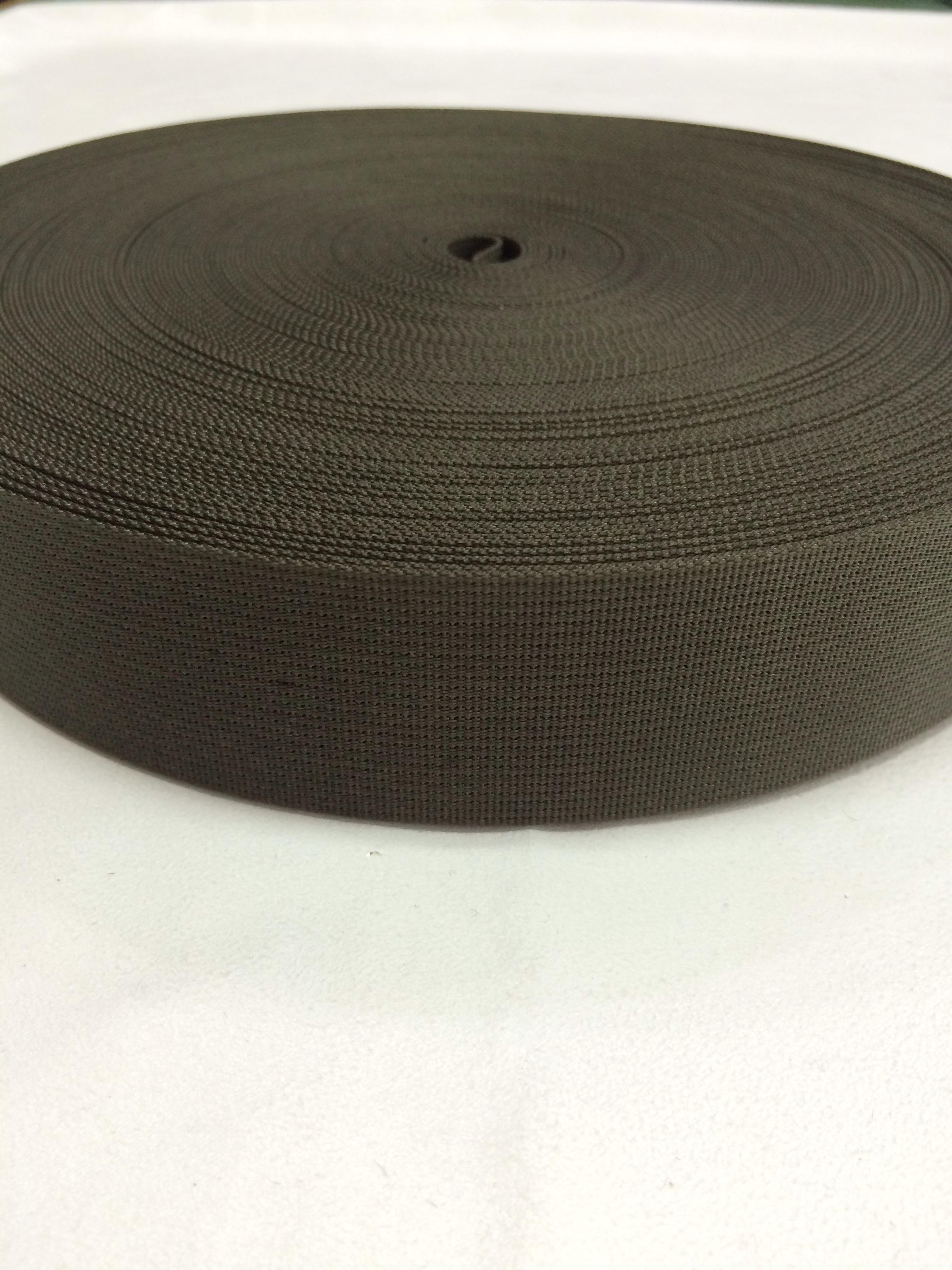 ナイロン 高密度 38mm幅 1mm厚 カラー黒以外 1反(50m)