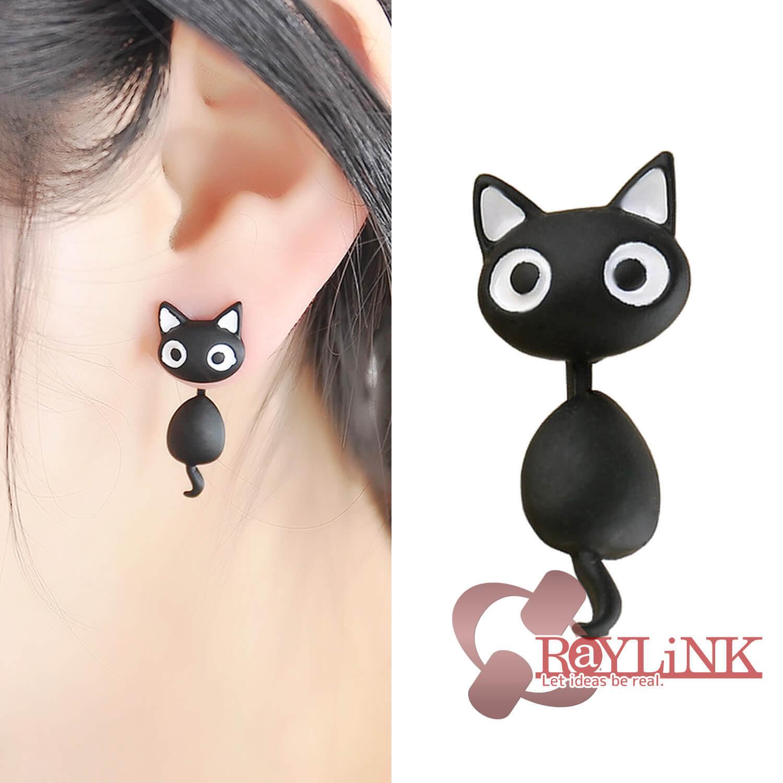 【ピアス】黒猫デザイン スタッドピアス Vol.2