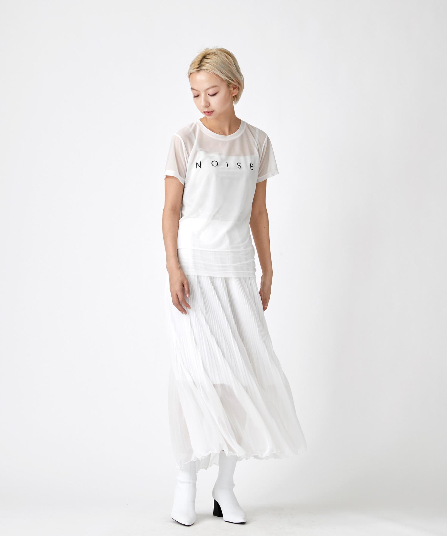 天竺素材キャミソール付きTシャツ(オフホワイト)