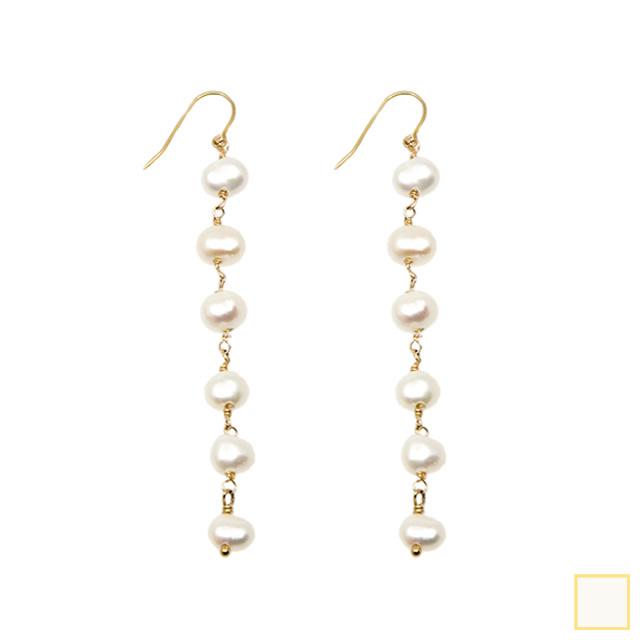 baroque pearl long pierce&earring