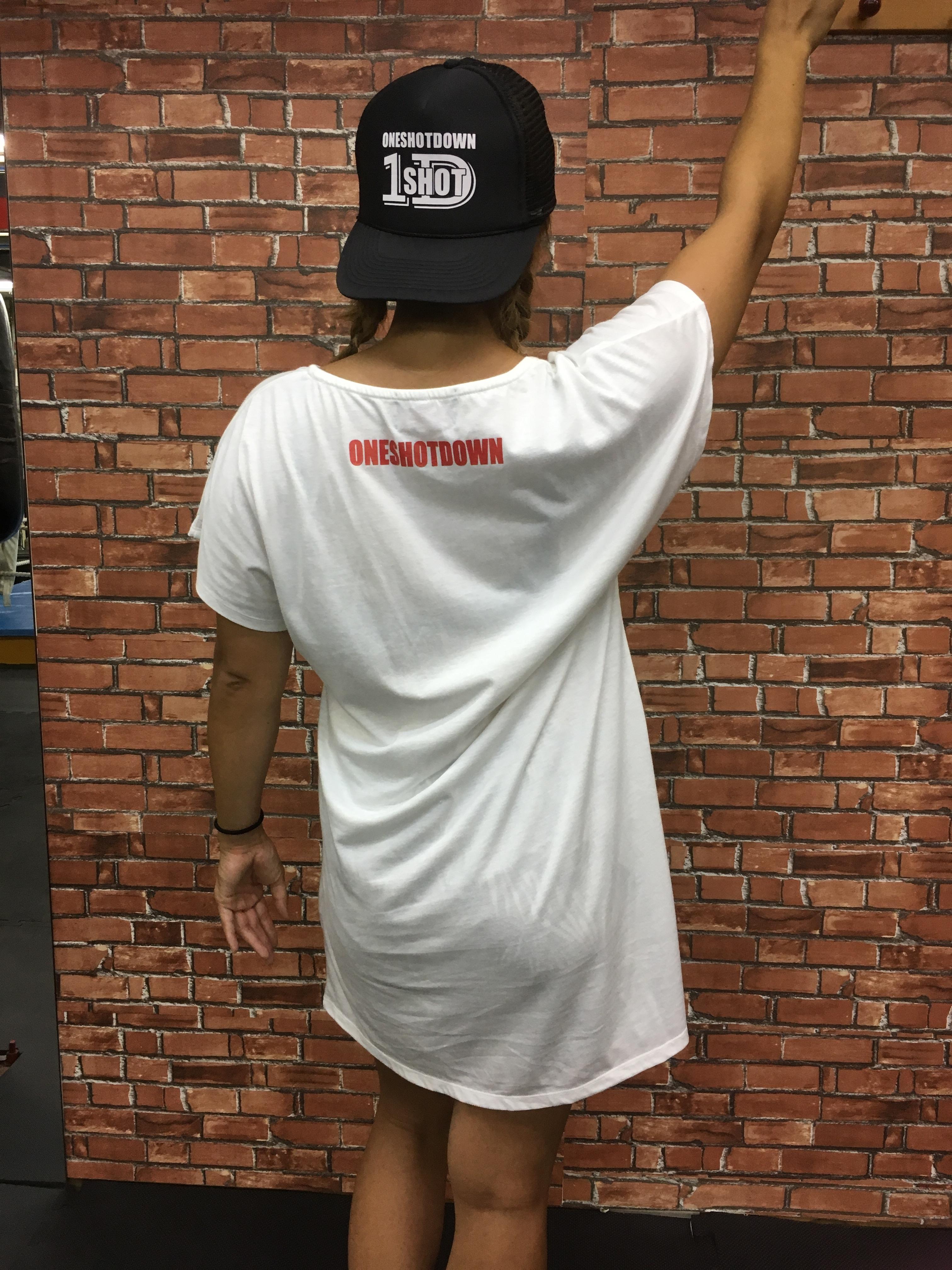 ガールズ ワンピースTシャツ ナンバー33デザイン - 画像3