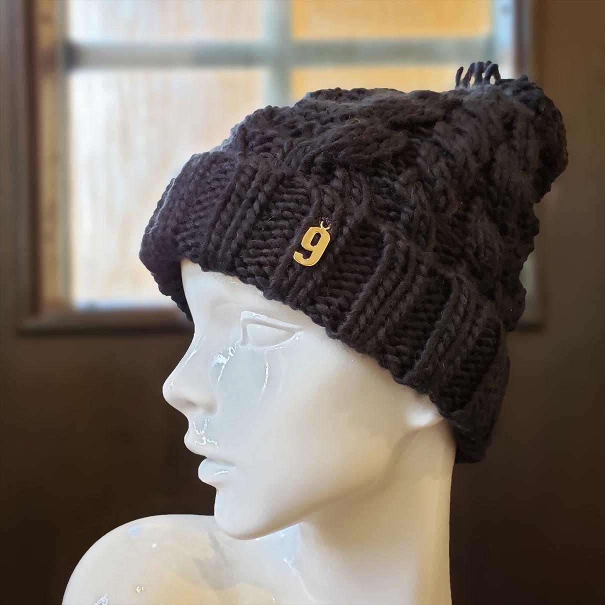 ナンバーニット帽(ブラック)