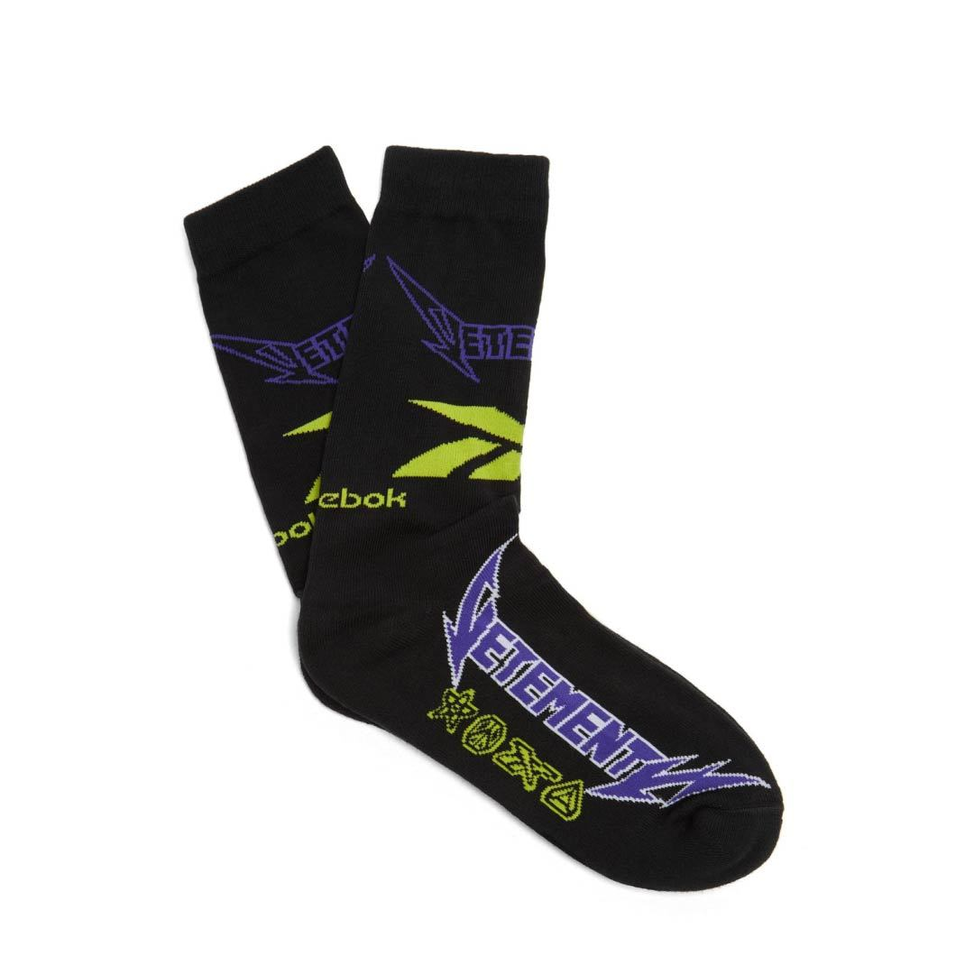 VETEMENTS / METAL LOGO SOCKS / Black
