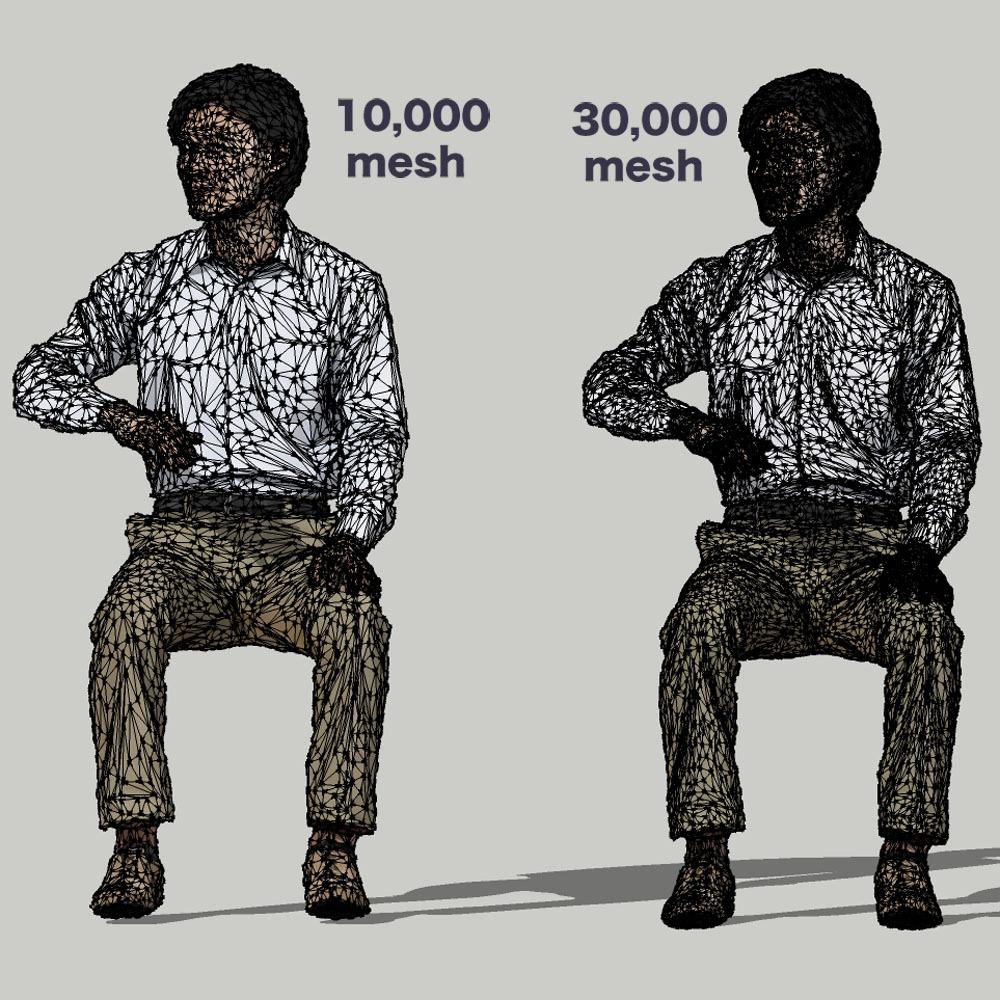 SketchUp素材 3D人物モデル ( Posed ) 065_Syun - 画像3