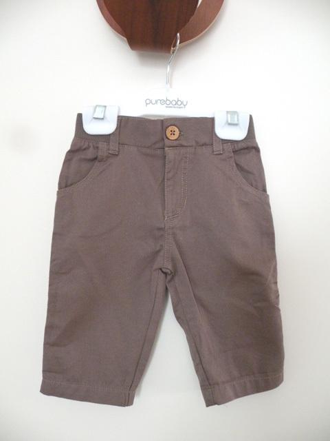 オーガニックコットン 2wayロールアップパンツ ベビー服 【purebaby】