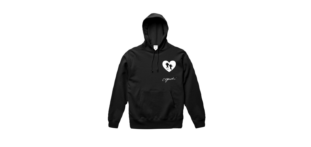 coguchi angel hoodie (BK)