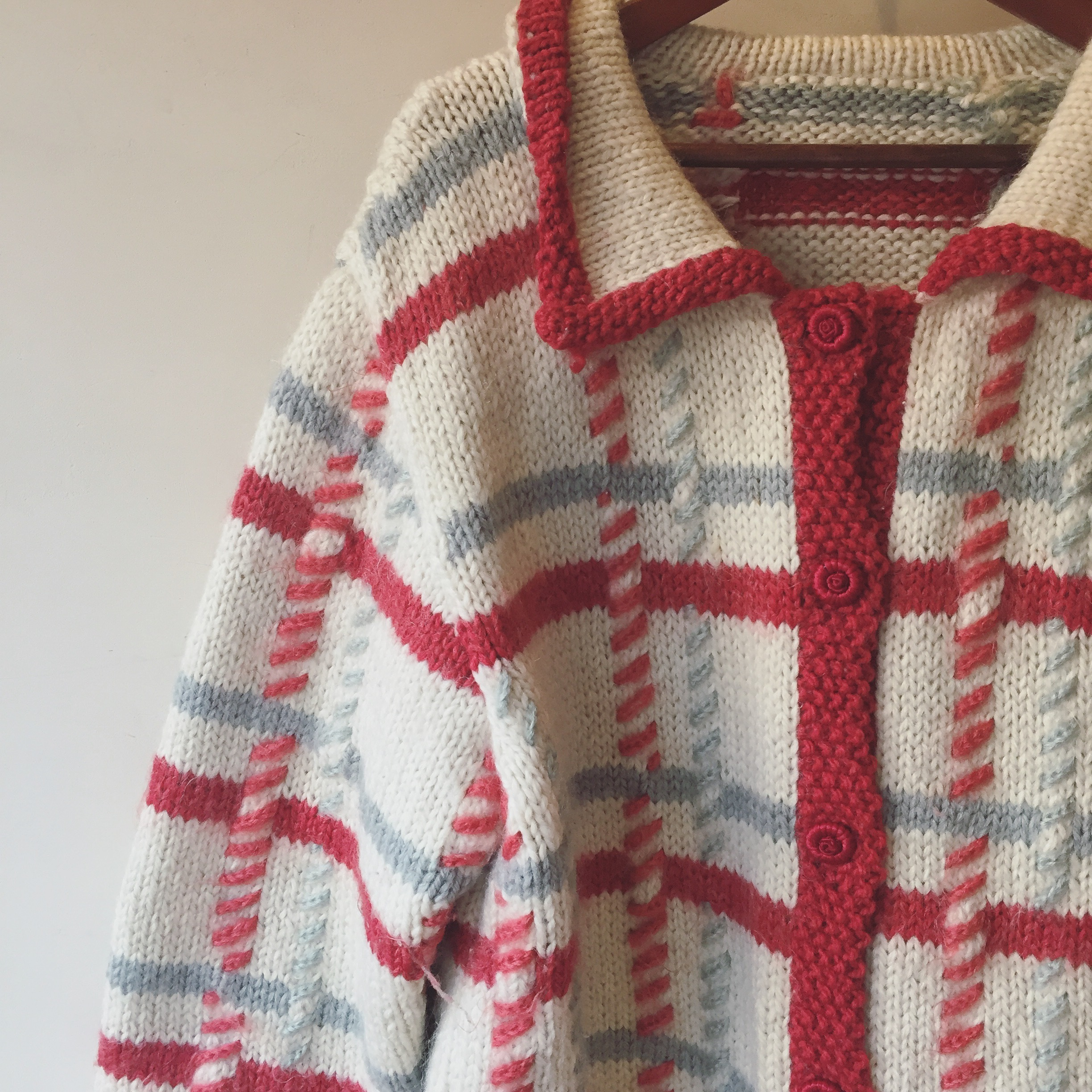 vintage design knit outer