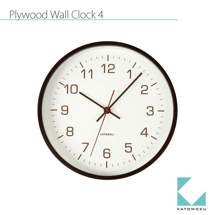KATOMOKU plywood wall clock 4 km-44BRC SKP電波時計