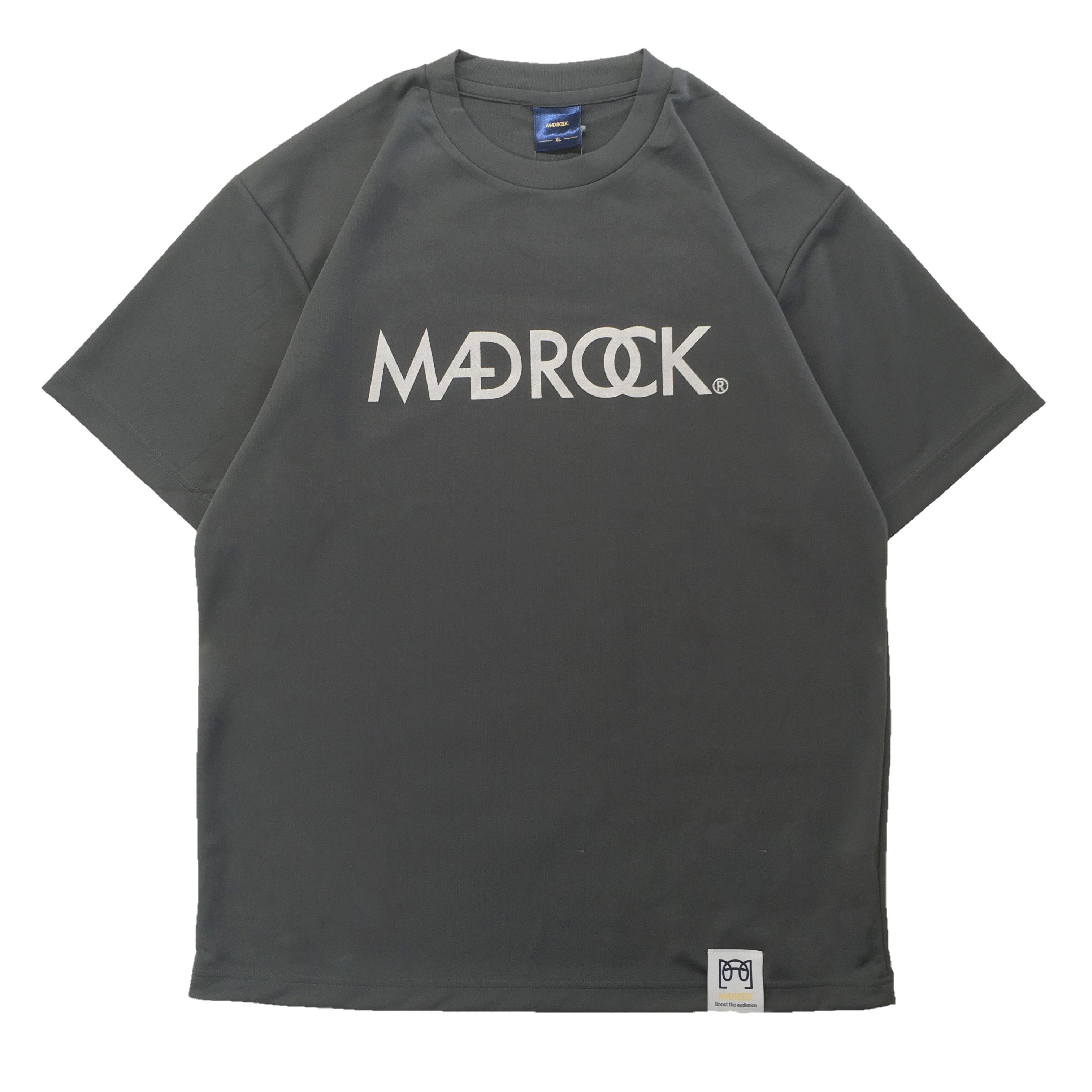 【新作/オンラインストア限定】マッドロックロゴ Tシャツ / ドライタイプ / ダークグレー & シルバー