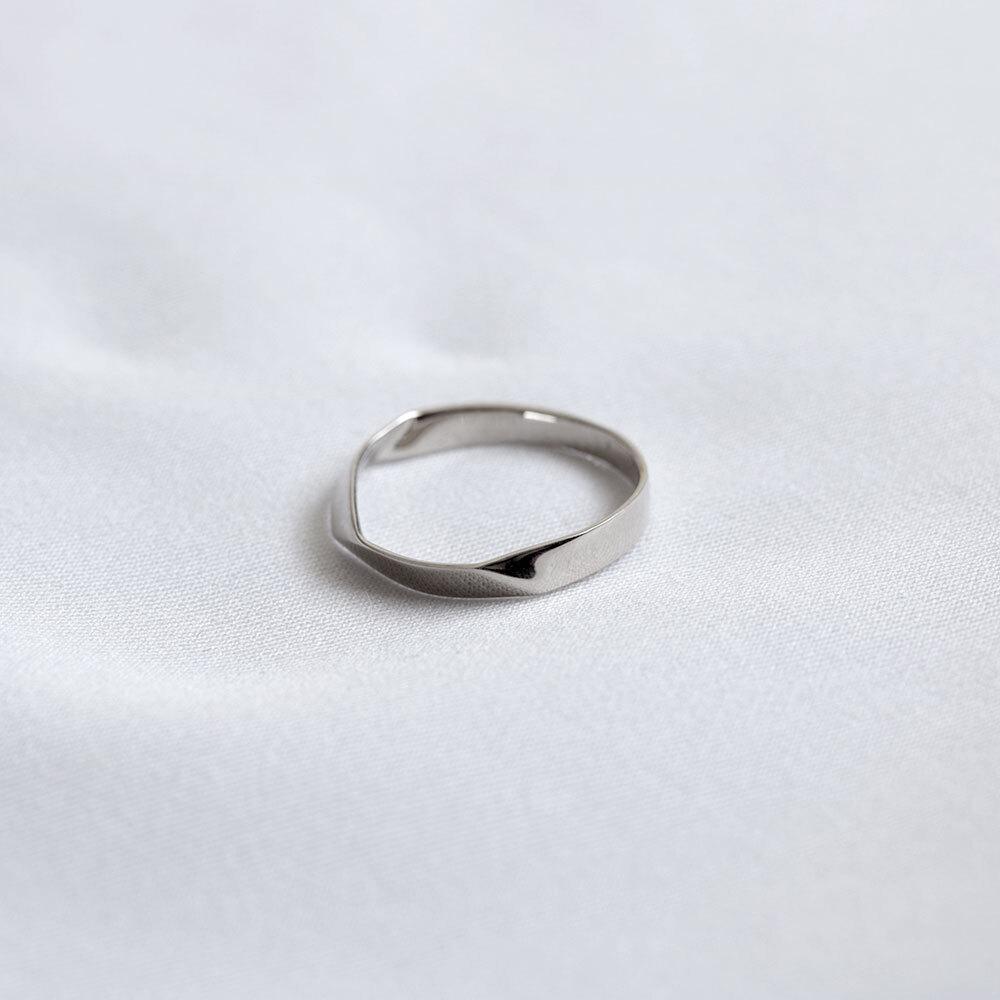 FOLDING METAL / ring - white gold