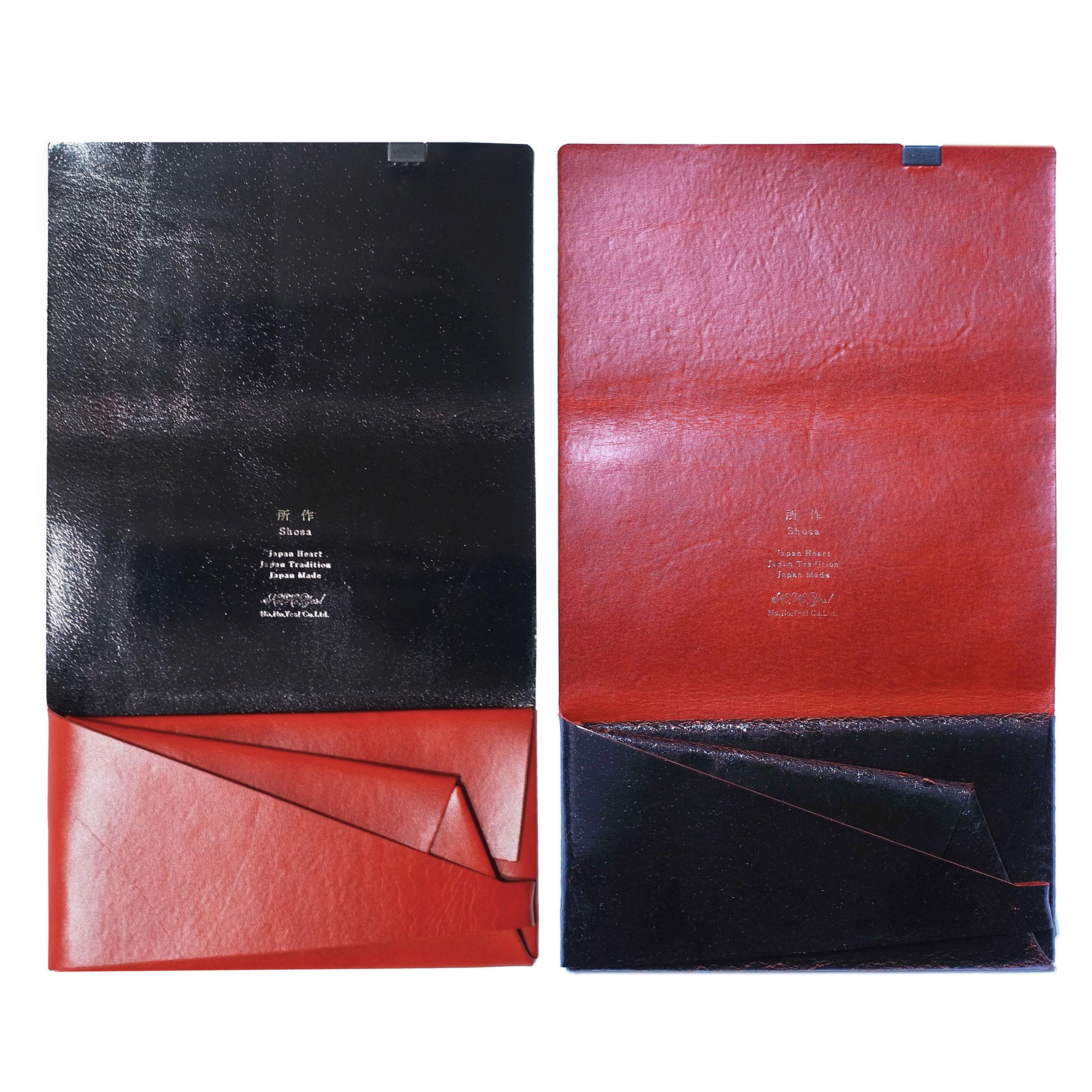ボレロ -ロングウォレット- ブラック×レッド、レッド×ブラック