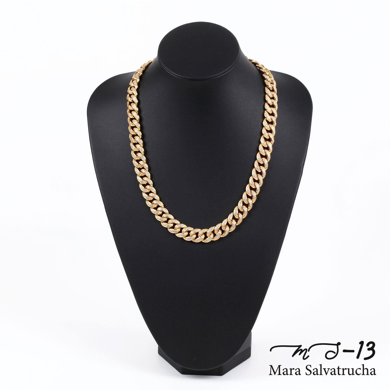 【MS-13】K18GP マイアミキューバン リンク ネックレス チェーン[長さ:60cm](ゴールド)