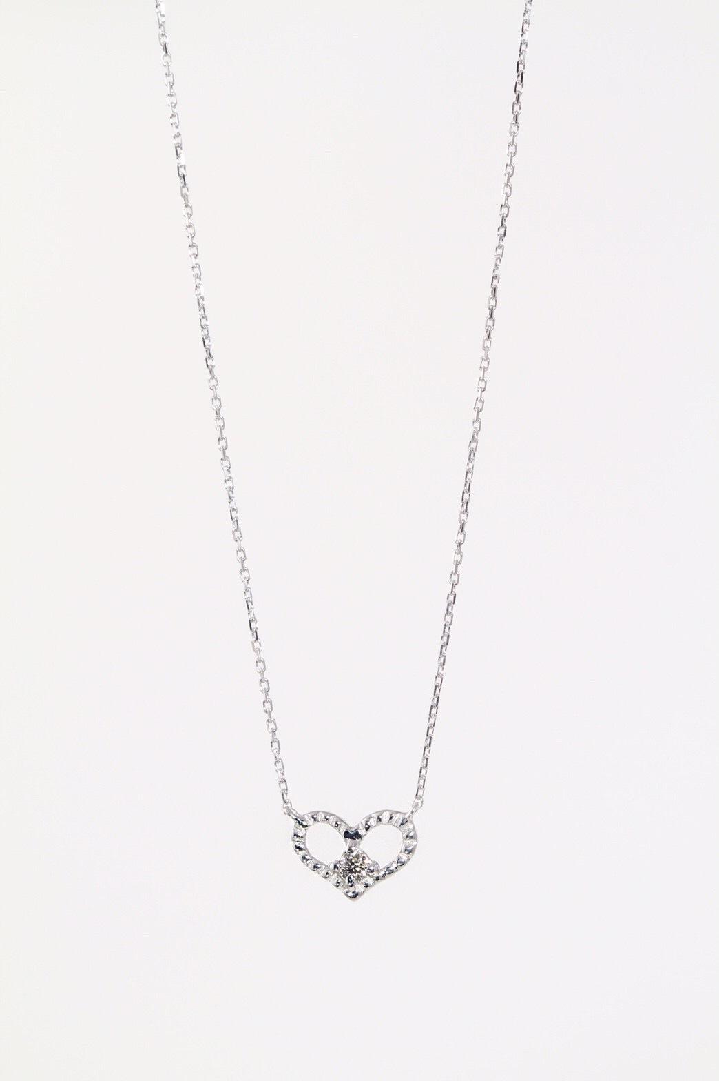 K10 WG ダイヤモンドネックレス ハート