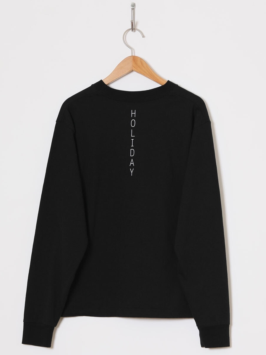 【HOLIDAY】SUPER FINE DRY PACK L/S T-SHIRT(BACK HOLIDAY)