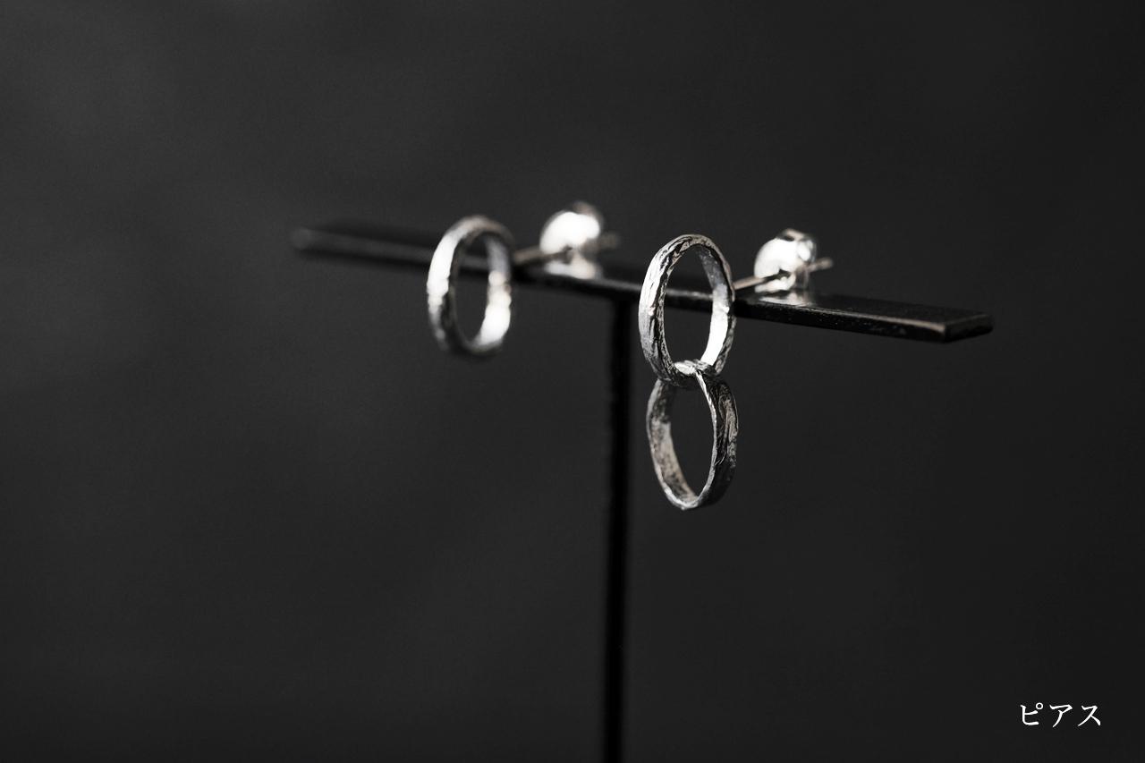 揺れる輪のピアス・イヤリング(silver)