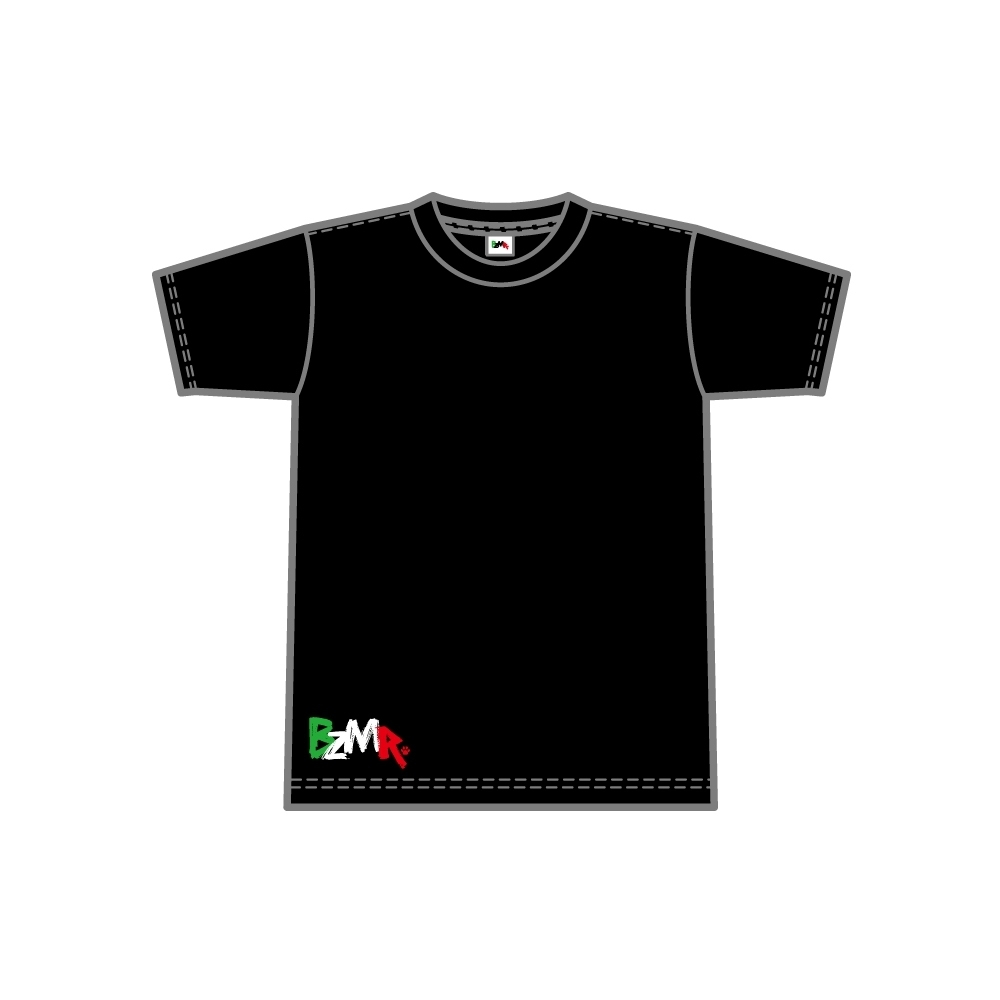 BZMR [Bottom print color tee] Black. - 画像1