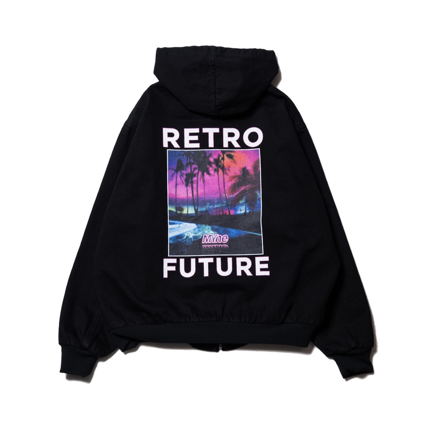 RETRO FUTURE denim parka / BLACK - 画像2