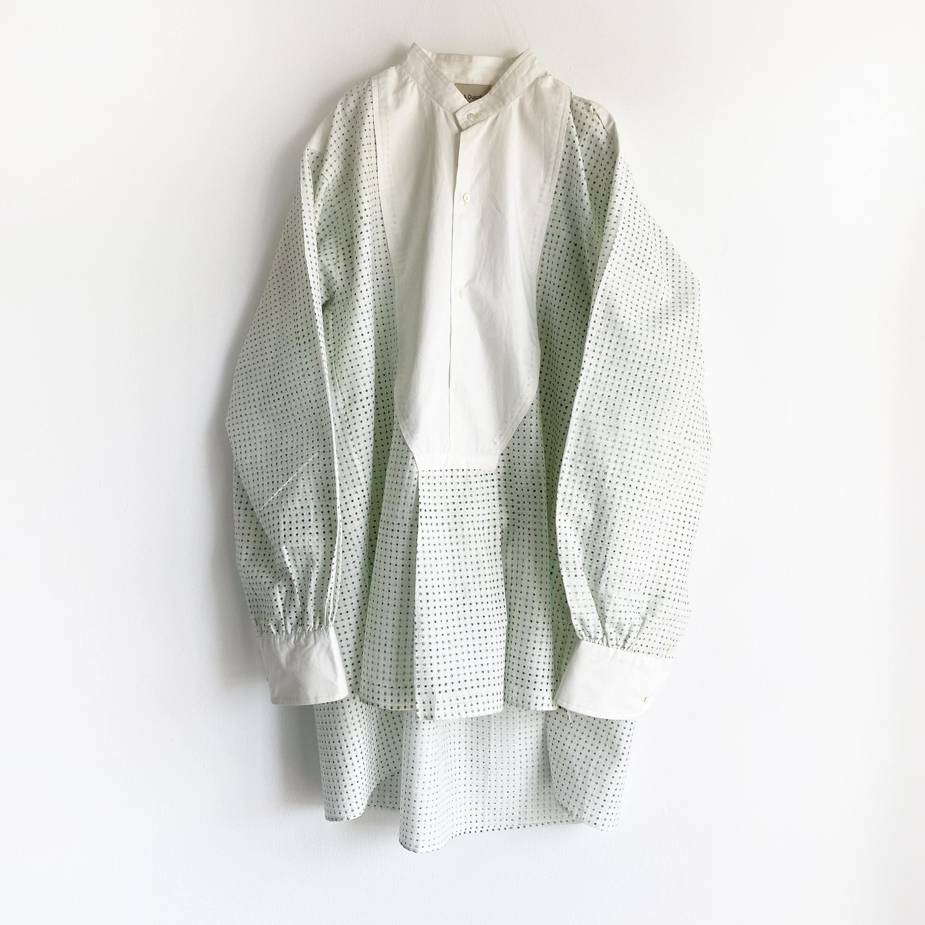"Pullover gather blouse ""block print geometric"""