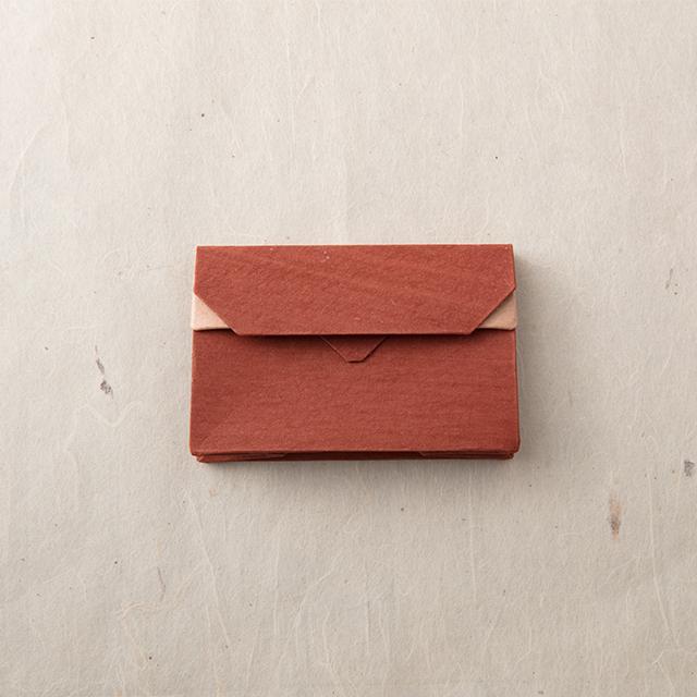 オリンモ アカシブ(赤茶)【オリガミ×小国和紙 カードケース】