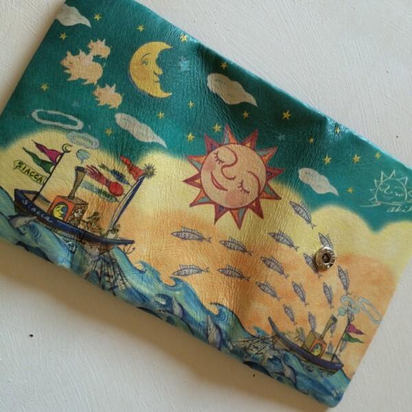 長財布(太陽と月と船乗り)