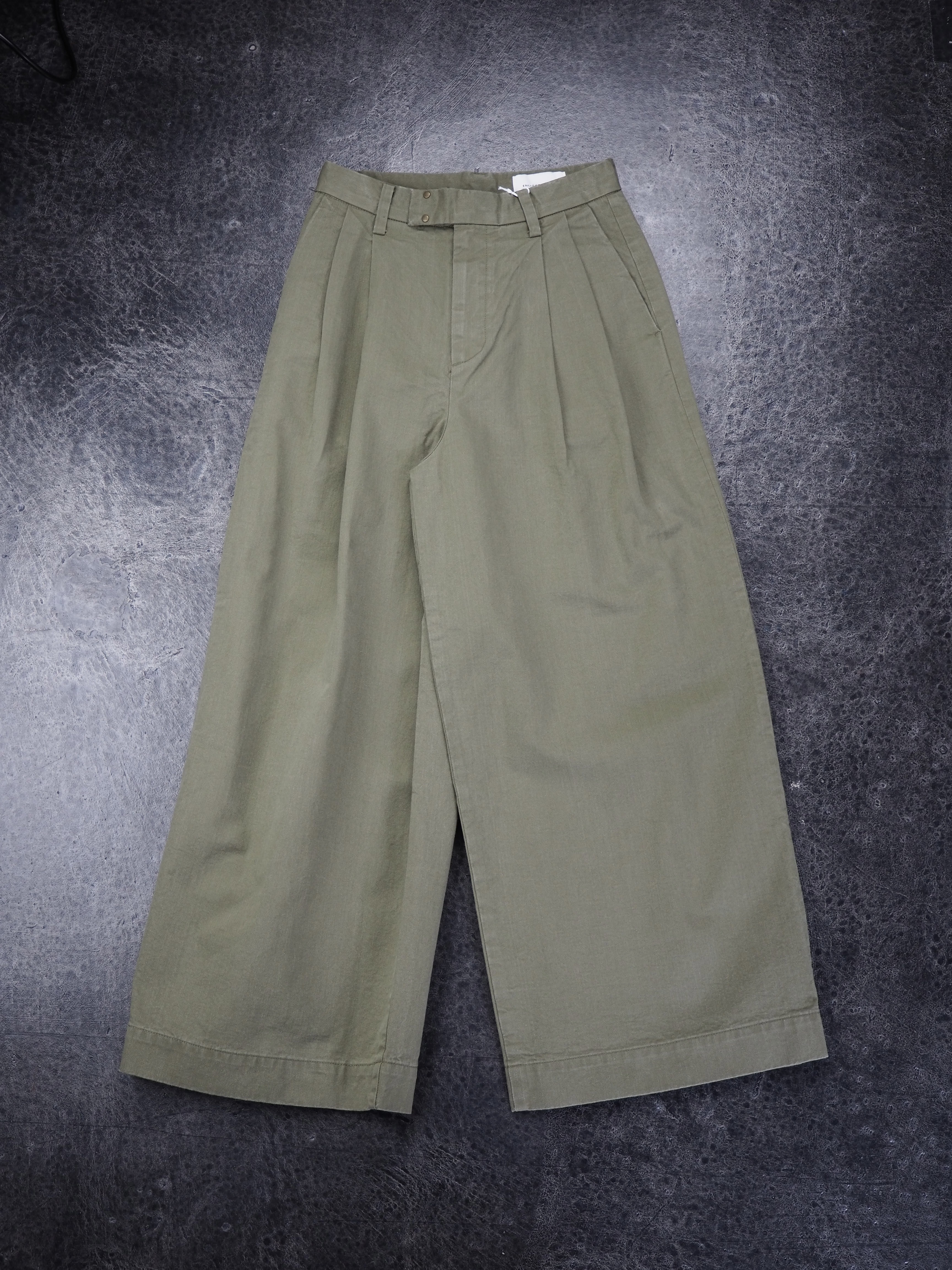 【ENLIGHTENMENT】CHINO WIDE PANTS