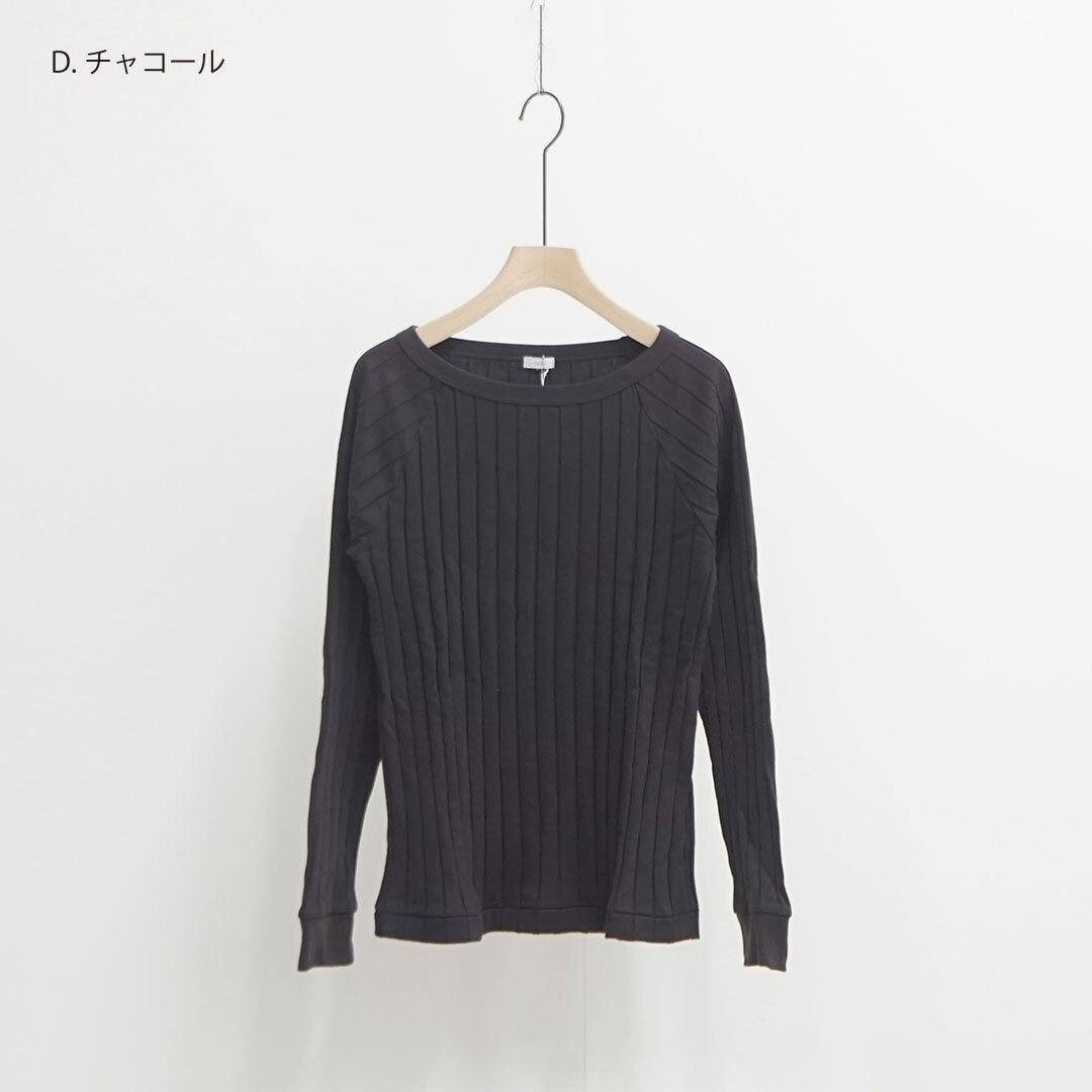 ichi イチ ワイドテレコ長袖カットソー 【返品交換不可】 (品番191055)
