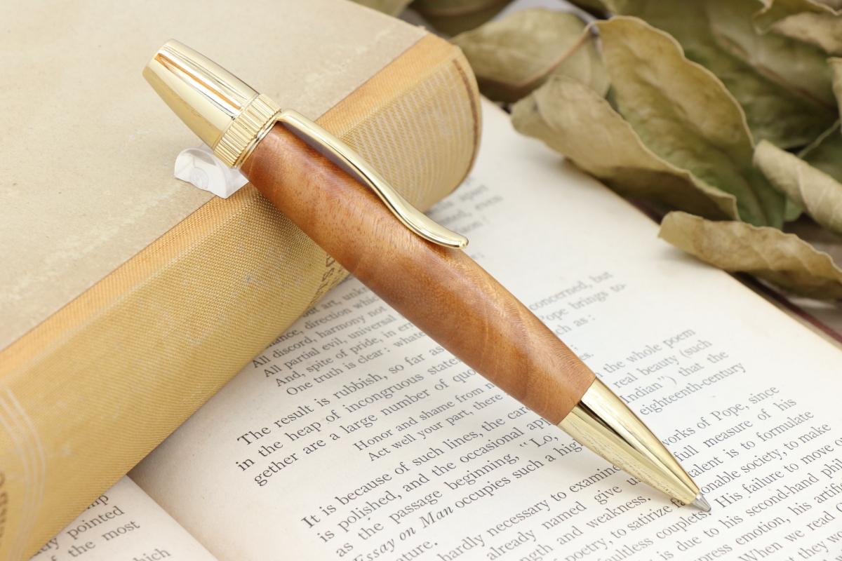 在庫あり「Chouette・世界三大銘木キューバンマホガニー上」希少木の手作りボールペンViriditas♬ジェットストリーム芯対応