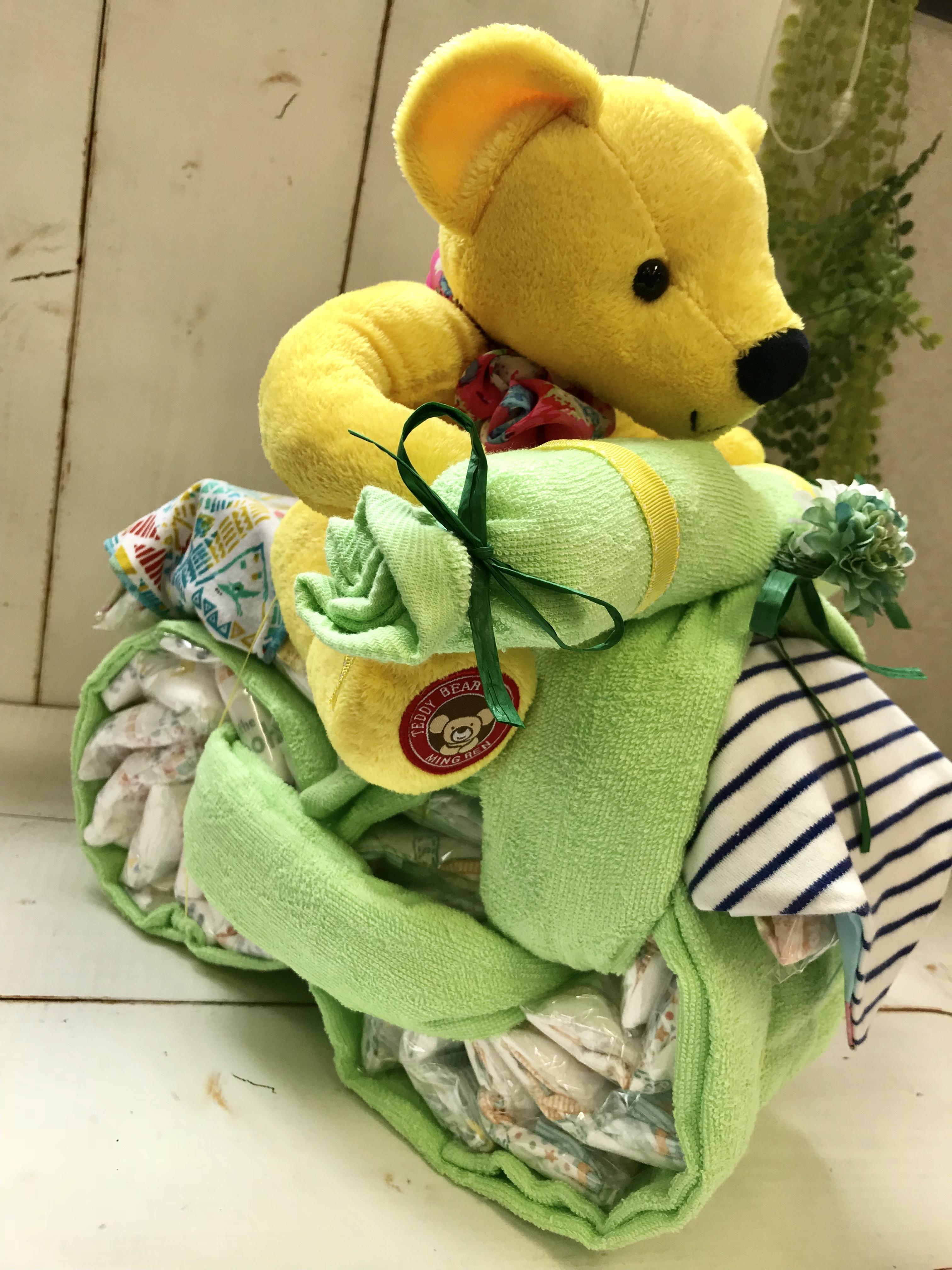 クマさん おむつバイク   おむつケーキ  出産祝い ギフト オシャレ 個性的  かわいい  キャラクター