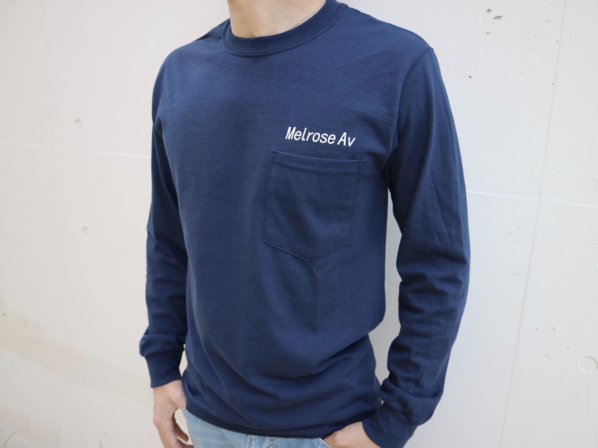 LA Melrose ポケットロングTシャツ(navy)