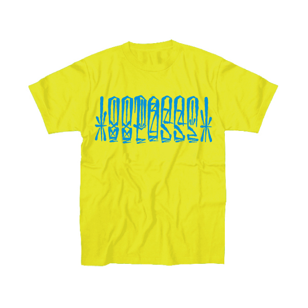 88POSSE T-SHIRTS(NEON YELLOW×SKYBLUE)