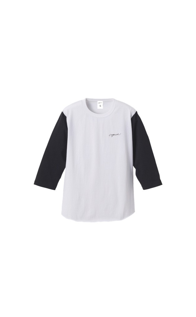 coguchi street baseball shirt (wh/bk)