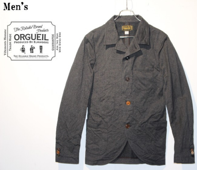 ORGUEIL サックジャケット Sack Jacket (BLACK) OR-4012 【Men's】