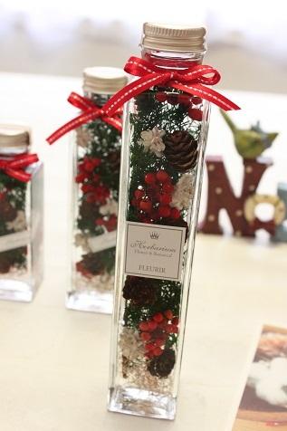 クリスマスハーバリウム 角瓶L