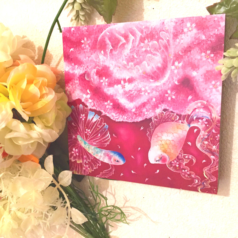 絵画 インテリア アートパネル 雑貨 壁掛け 置物 おしゃれ 油絵 金魚 ロココロ 画家 : 黒野 祥絵 作品 : 桜