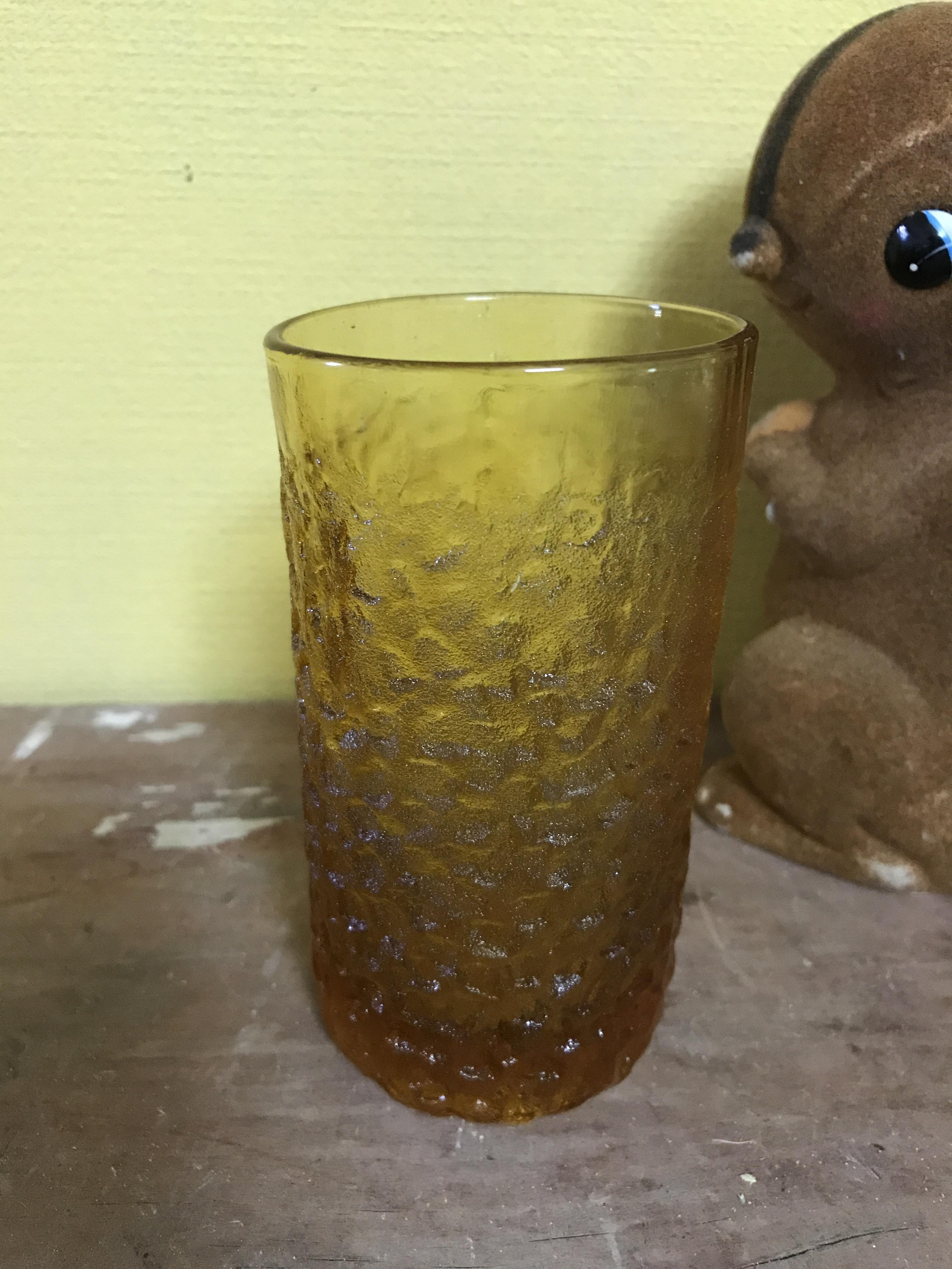 アンバーボコボコグラス