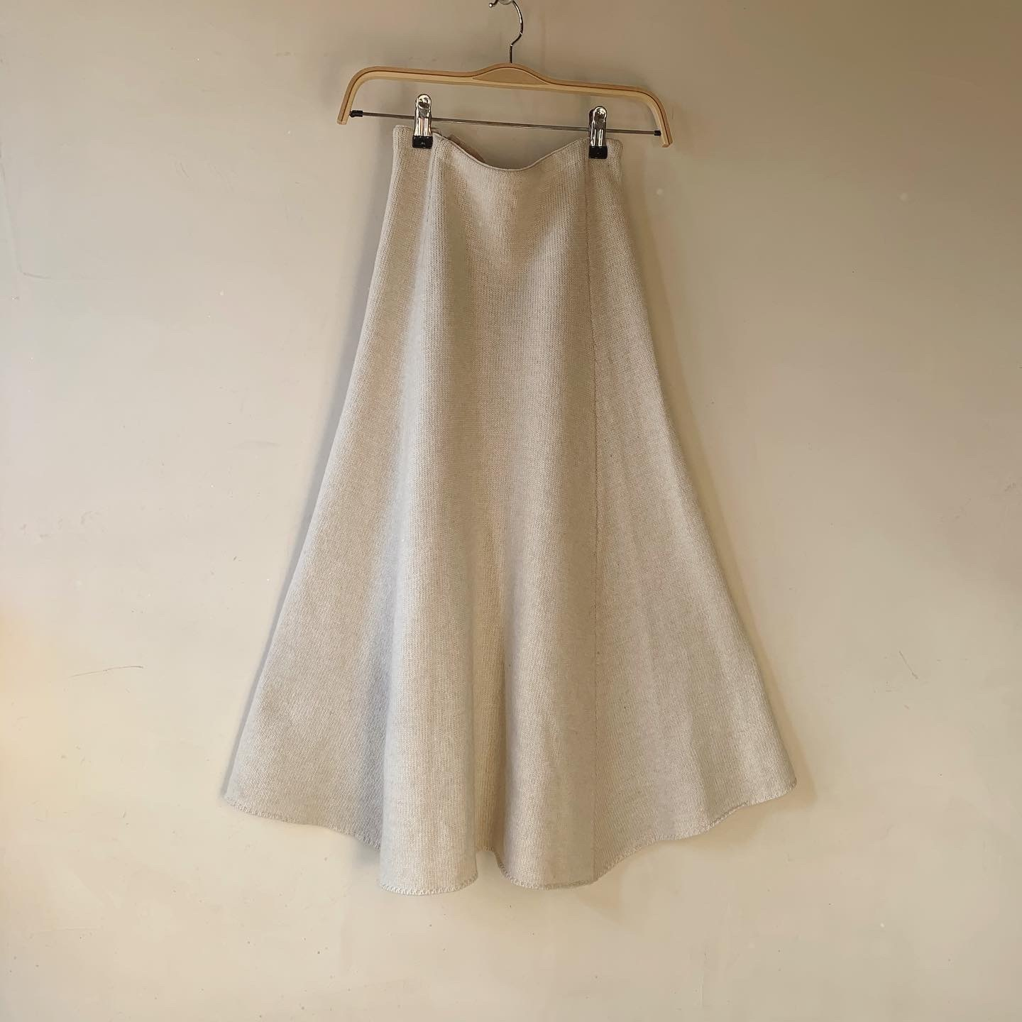 vintage off-white cashmere wook knit skirt