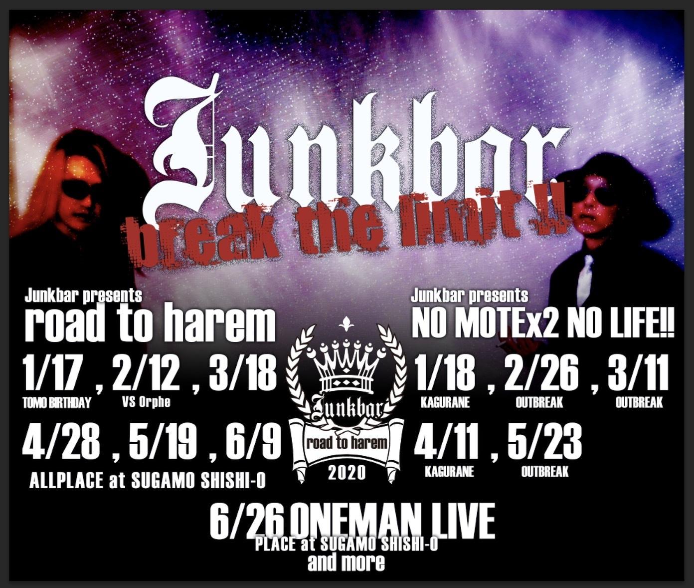 ライブチケット ROAD TO HAREM / Junkbar