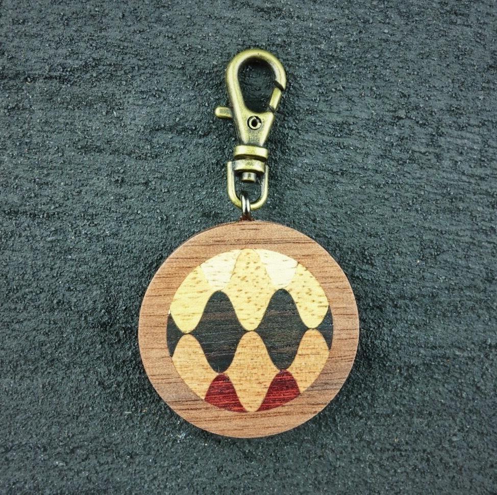 wooden inlaid charm IH-015-WT-2